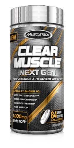 Sports Supplement MuscleTech Clear Muscle Next Gen featuring the cutting-edge ingredient BetaTOR