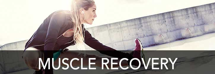 Muscle Recovery - female athlete stretching
